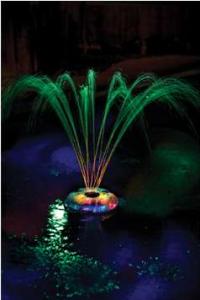 Ambiance et jeu d'eau pour piscine, fontaine lumineuse flottante
