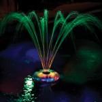 Fontaine lumineuse flottante
